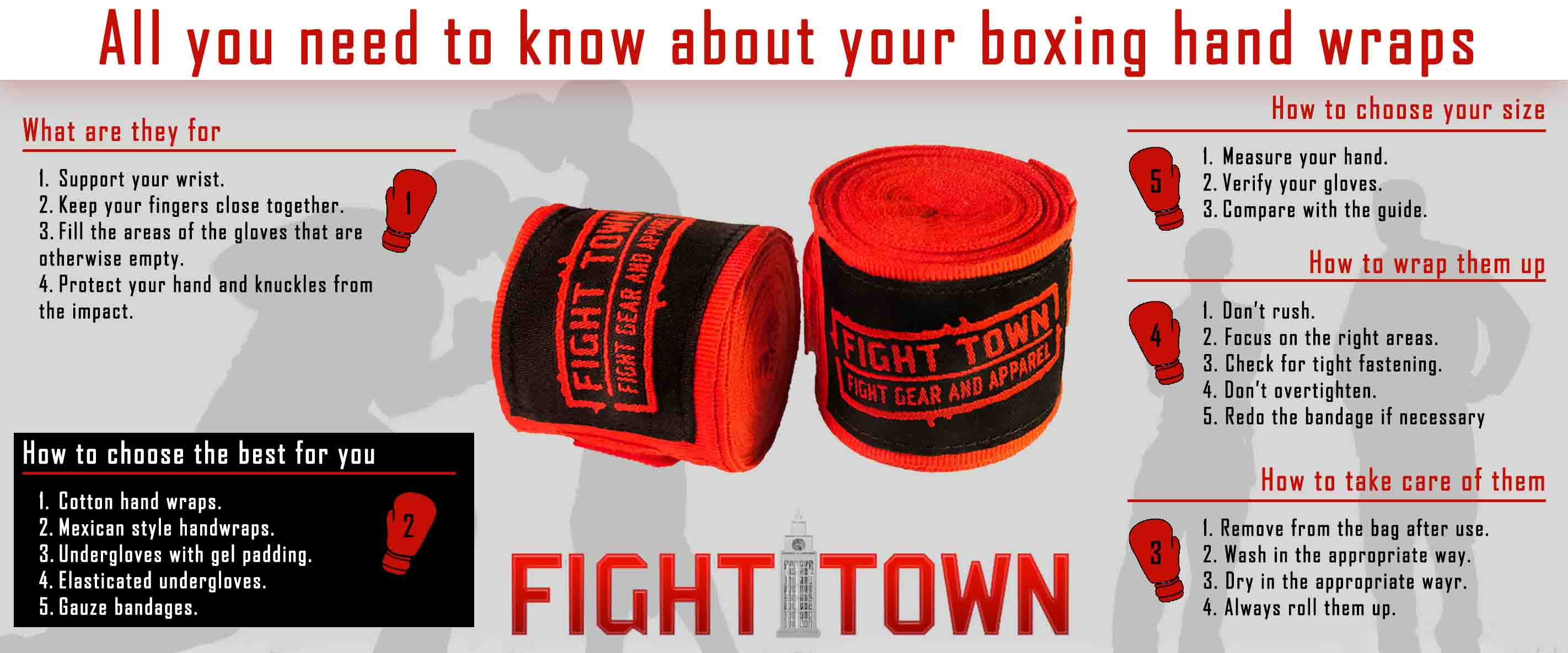 How to choose boxing hand wraps