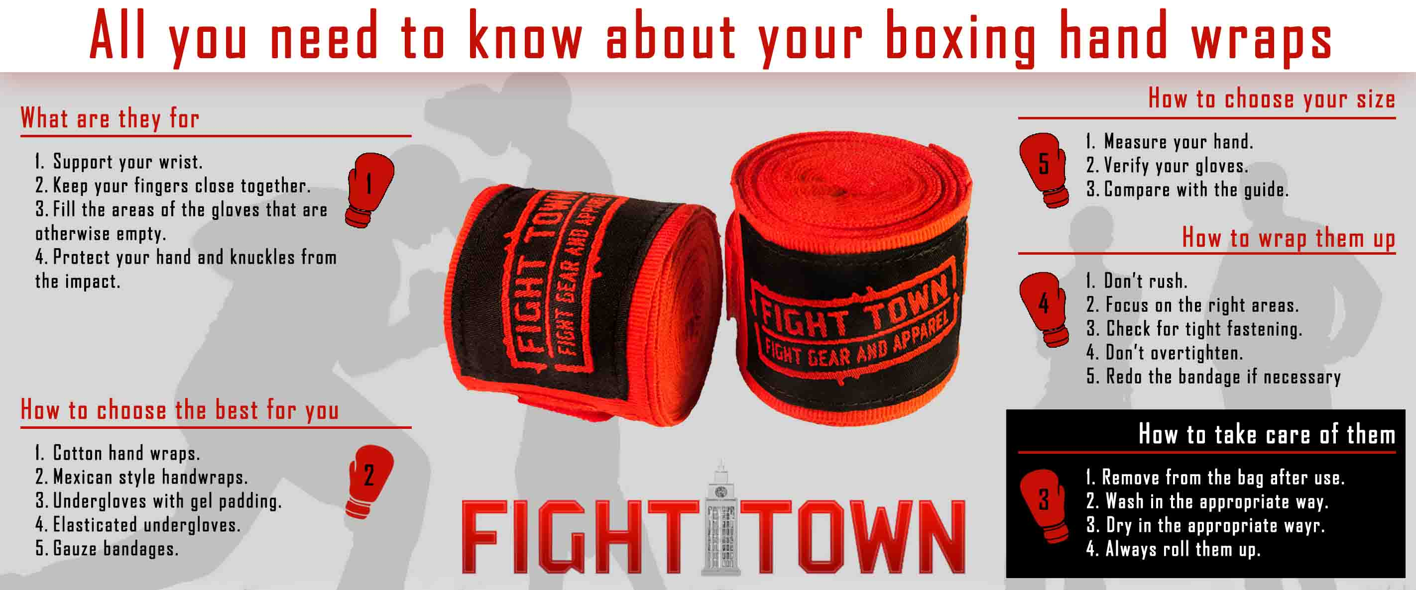 How to take care of boxing hand wraps